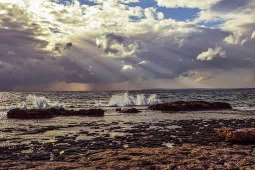 Sea, Nature, Sky, Clouds, Seashore, Winter, Landscape