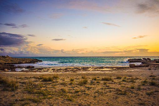Sunset, Beach, Sea, Sky, Clouds, Nature, Horizon