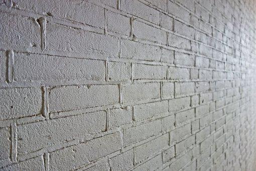 Brick Wall, Wall, White Brick Wall, White Wall, Masonry