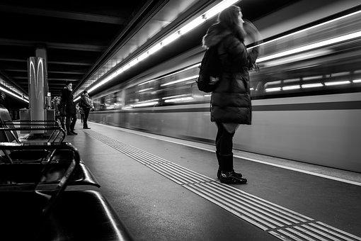 Transport System, Fast, Metro, Blur, Road, City, Human