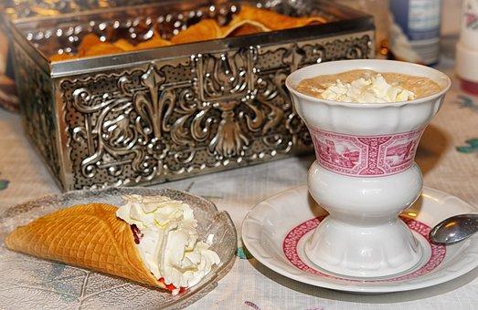 Coffee, Melange, Wiener Melange, Café Au Lait, Waffles