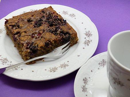 Cake, Chocolate, Cherry Pie, Coffee
