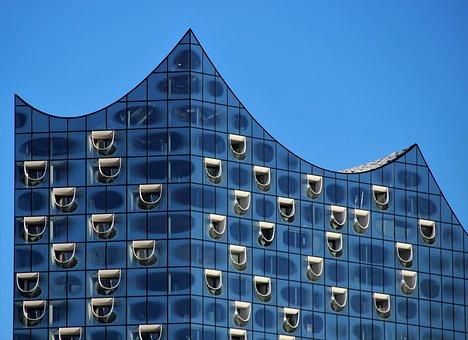Elbe Philharmonic Hall, Modern, Technology, Glass