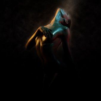 Woman, Pretty, Art, Movement, Figure, Human, Artwork
