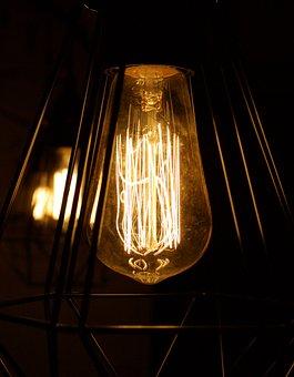 Lamp, Light, Illuminated, Flame, Candle