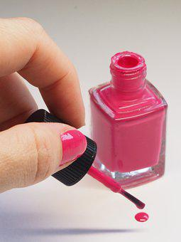 Nail, Treatment, Polish, Nail Polish, Pink, Bright Pink