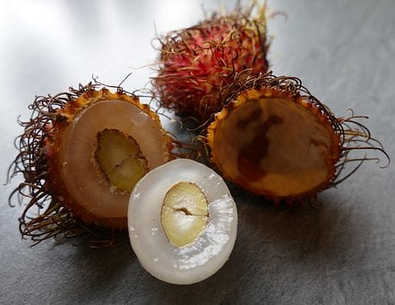 Rambutan, Exotic Fruits, Incorrect Lychee, Shells
