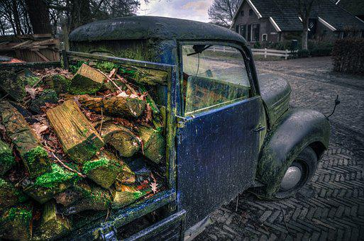 Wood, Truck, Old, Hdr, Dark, Transport, Vehicle, Lorry