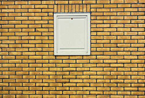 Wall, Brick Wall, Yellow Brick Wall, Golden, Window