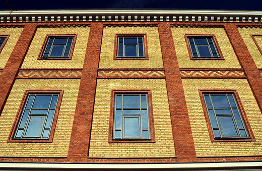 Facade, Window, Brick, Historically, Protected Monument