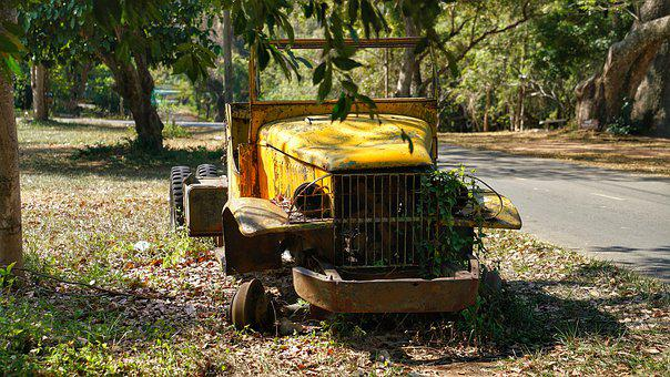 Old, Abandoned, Truck, Transportation, Play Area, Park