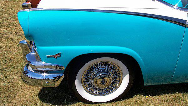 Car, Classic Car, Vehicle, Chrome, Wheel, Vintage