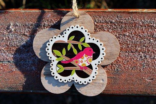 Flower, Ornament, Decoration, Pendant, Winter, Frost