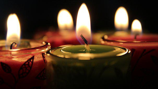 Light Of A Candle, Flame, Wax, Burned, Candlestick