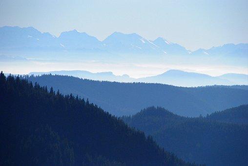 Mountain, Panorama, Nature, Sky, Snow, Landscape