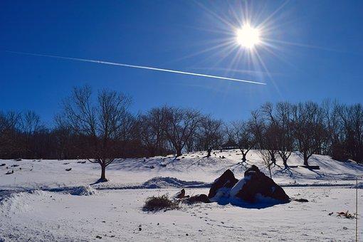 Snow, Landscape, Sun, Winter, White, Cold, Nature