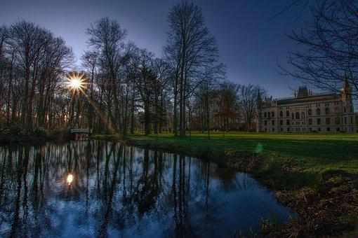 Reflection, Waters, Nature, River, Tree, Schönwetter