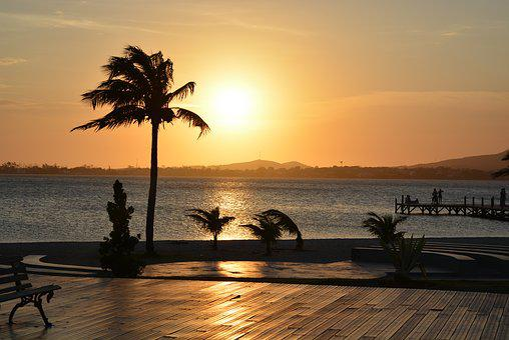 Sunset, Beach, Body Of Water, Sol, Dawn, Trip, Summer