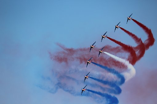 Aircraft, Patrol Of France, Sky, Outdoor