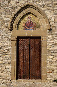 Door, Wooden, Church, Orthodox, Architecture, Old, Wall
