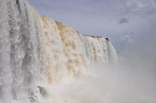 Falls, Iguazu, Iguaccu, Cataratas, Water, Fall, River