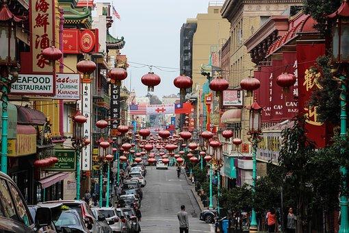 Street, City, Tourism, Travel, Tourist, Chinatown