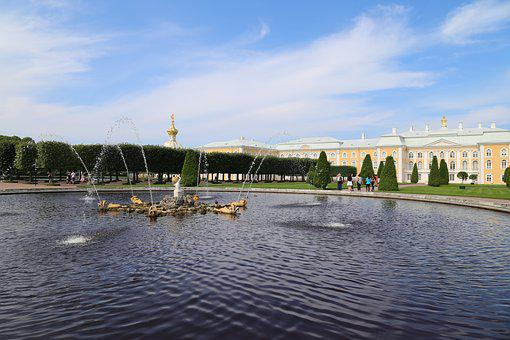 Petersburg, Architecture, Travel, Fountain