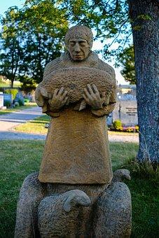 Sculpture, Statue, Stone, Travel, Religion, Park