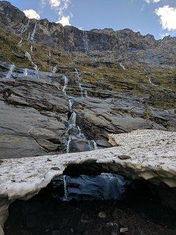 Nature, Landscape, Water, Rock, Outdoors, Waterfall, Nz