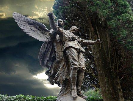 Tree, Sculpture, Statue, Angel, Stone Figure
