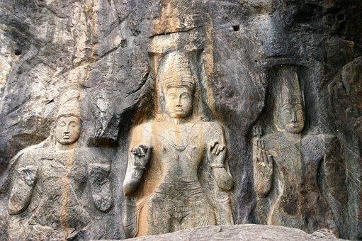 Buddha, Stone, Sri Lanka, Buduruwagala