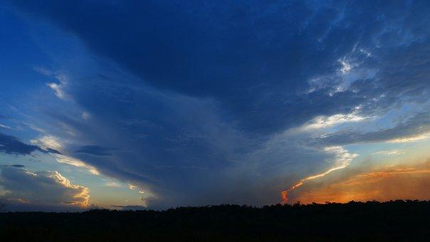 Nature, Sunset, Sky, Panoramic, Sun, Dusk, Cloud, Blue