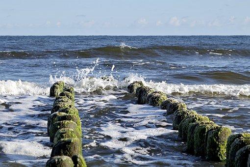 Breakwater, The Waves, Sea, Piana, Spot, Water, Wooden