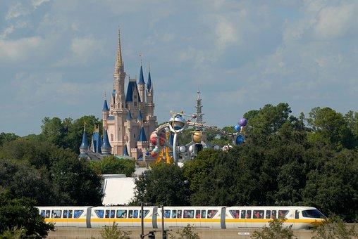 Disney World, Monorail, Tourism, Travel, Orlando