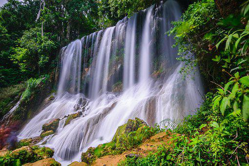 Waterfall, Waters, Nature, Cascade, River, Travel