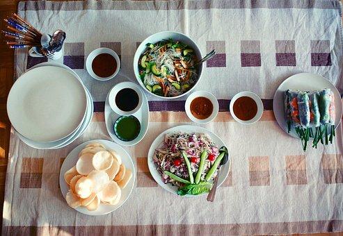 Table, Food, Vietnam, Vietnamese, Dinner, Eat, Yum