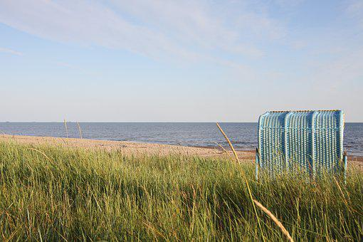 Beach, Beach Chair, Sea, North Sea, Rest, Recovery