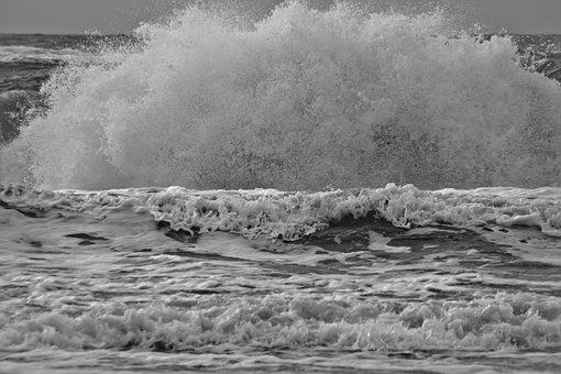 Spray, Wave, Denmark, Surf, Coast, Sea, Water
