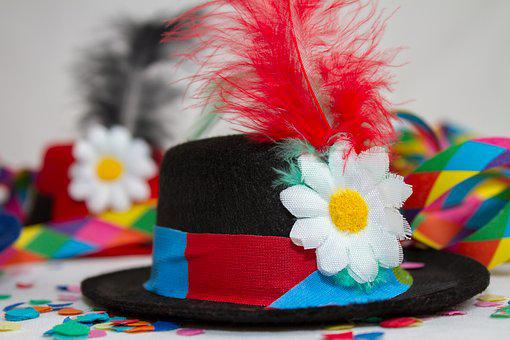 Carnival, Party, Hat, Streamer, Colorful, Feather