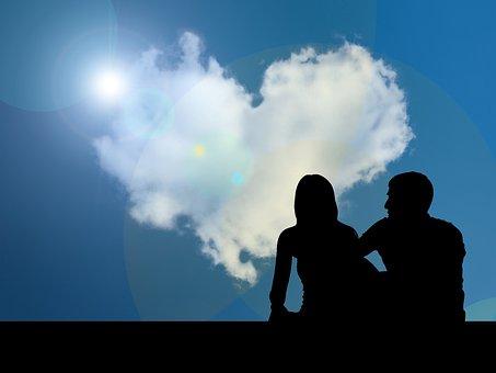 Love, Valentine's Day, Heart, Lovers, Pair, Sky