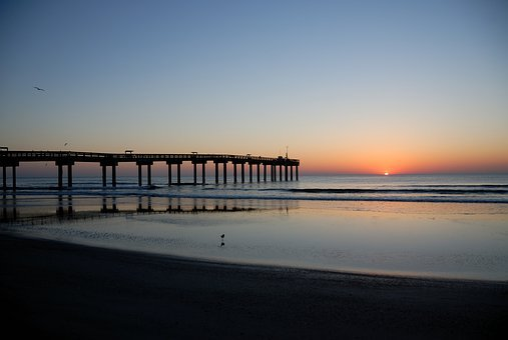 Water, Sunrise, Sea, Beach, Sky, Landscape, Nature
