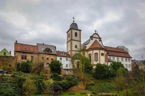 Neckarsteinach, Church, Four-castle Town, Religion