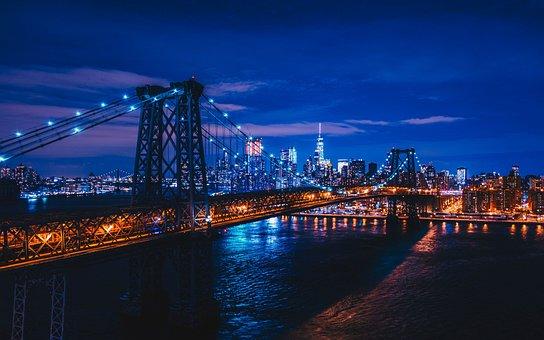 Bridge, City, Body Of Water, River, Cityscape