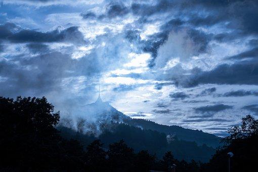 Nature, Panoramic, Landscape, Sky, Outdoors, Cloud