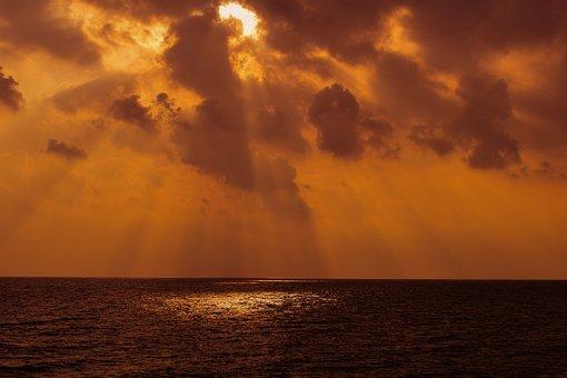 Sunset, Dusk, Sky, Clouds, Nature, Light, Sunlight