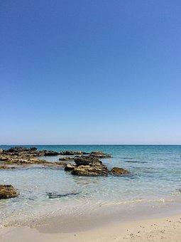 Sand, Waters, Beach, Travel, Sea, Puglia, Bay