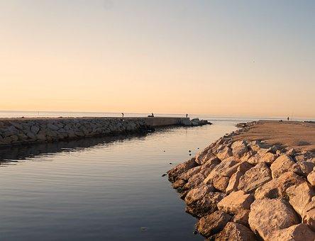 Waters, Sea, Sunset, Landscape, Beach, Coast, Sky, Dawn