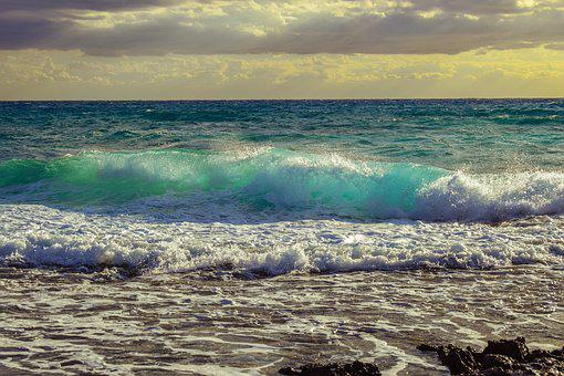 Wave, Spectacular, Smashing, Storm, Sky, Clouds, Autumn