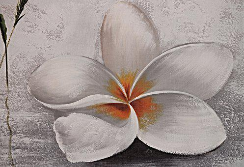 Painting, Blossom, Bloom, Mural, Flower Picture