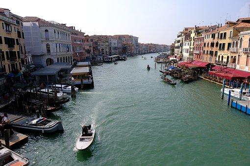 Waters, Channel, Travel, Gondola, Boot, Venetian